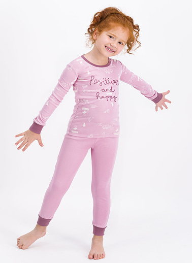 Roly Poly Rolypoly Positive And Happy Açık Gül Kurusu Kız Çocuk Pijama Takımı Pembe